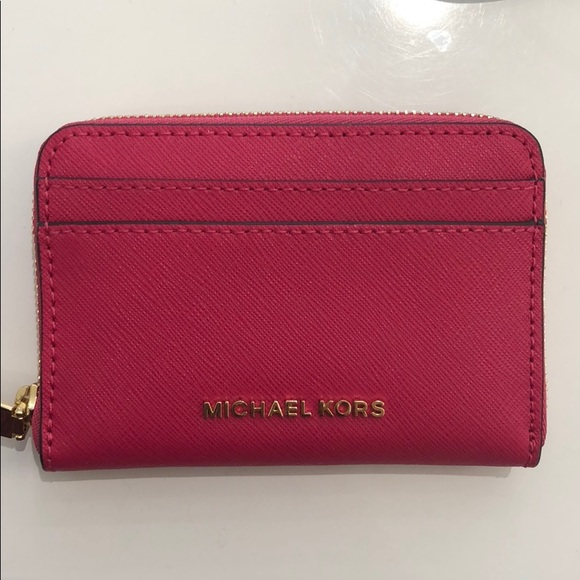 170549d5ef105b Michael Kors Bags | Ultra Pink Money Pieces Wallet | Poshmark